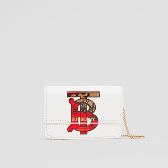 Burberry Monogram Motif Leather Card Case with Chain Strap