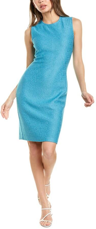 St. John Claire Wool-Blend Sheath Dress