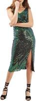 Topshop Halographic Sequin Midi Dress