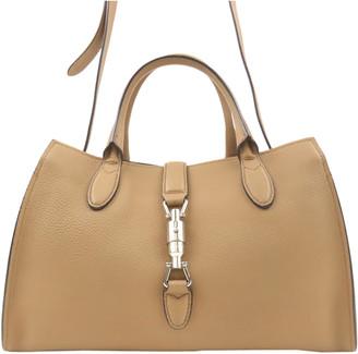 Gucci Brown Leather Medium Jackie Soft Satchel