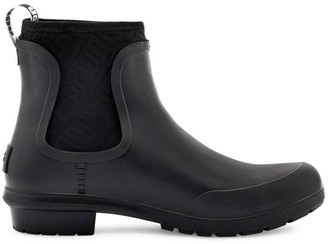 UGG Chevonne Sheepskin-Lined Rubber Ankle Boots