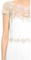 Marchesa Hand Pleated Chiffon Gown