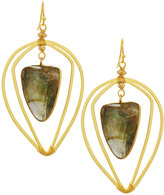 Nakamol Geometric Labradorite Wire Drop Earrings