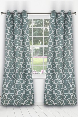 Duck River Textile Rhys Blackout Grommet Panel Curtains - Set of 2 - Dusty Teal
