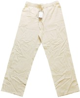 Cos Ecru Silk Trousers for Women
