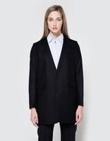 Flannel No Collar Jacket