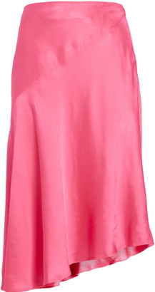 Helmut Lang Asymmetrical Satin Skirt
