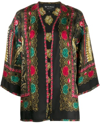 Etro all-over print jacket