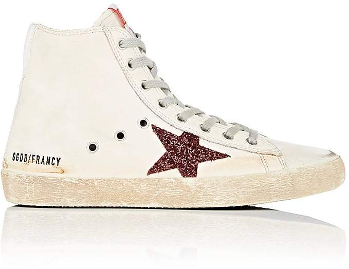 Golden Goose Women's Francy Leather & Glitter Sneakers