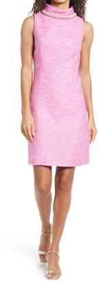 Lilly Pulitzer Portia Embellished Mock Neck Shift Dress