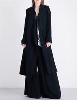 Ann Demeulemeester Wrap-over wool-blend coat