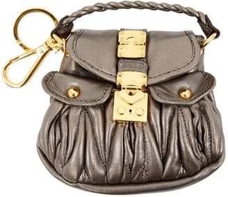 Miu Miu Silver Leather Bag charms