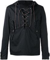 Barena lace up neck hooded jacket