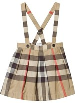Burberry Beige Classic Check Skirt and Braces