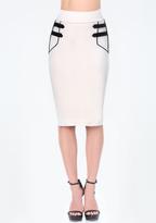 Bebe Petite Strap Detail Skirt