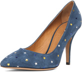Anaid Suede Star Pumps in Navy
