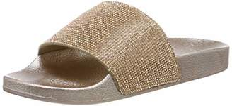 Beck Women's Slides Water Shoes, Gold 14