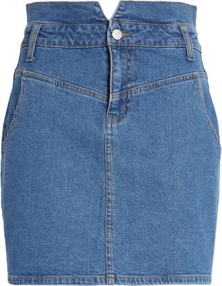 BP High Waist Denim Miniskirt
