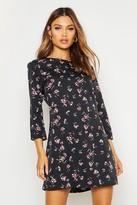 boohoo Floral Printed Shift Dress