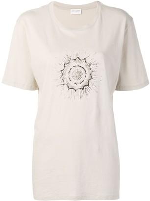 Saint Laurent bead-embellished crew-neck T-shirt