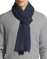Neiman Marcus Lightweight Cashmere Scarf with Side Tipping