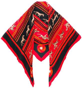 Hermes Pre-Owned pleated pointy scarf