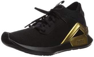 Puma Women's Rogue Sneaker Black-Metallic 7 M US