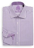 English Laundry Regular-Fit Grid Check Cotton Dress Shirt