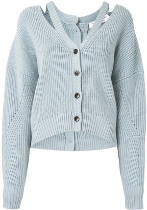 Proenza Schouler White Label Button Back Knitted Cardigan