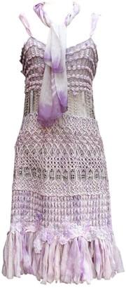 Christian Lacroix Purple Silk Dress for Women Vintage