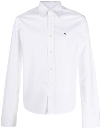 Raf Simons Embroidered Logo Buttoned Shirt
