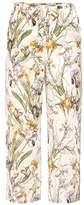 Alexander McQueen Printed silk trousers