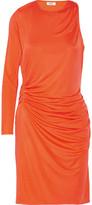 Issa Venice One-Shoulder Silk-Blend Stretch-Jersey Mini Dress