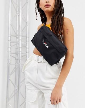 Fila logo cross body pouch in black