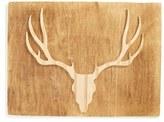 Grace Graffiti Deer Head Distressed Wood Wall Art