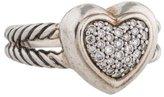 David Yurman Pavé Diamond Cable Heart Ring