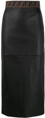 Fendi FF motif pencil skirt
