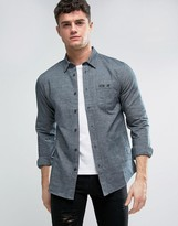 Rvca Flannel Shirt With Patch Pocket
