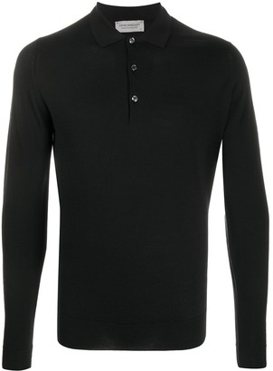 John Smedley Long-Sleeve Polo Shirt