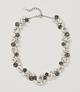 LOFT Monochrome Crystal Cluster Necklace