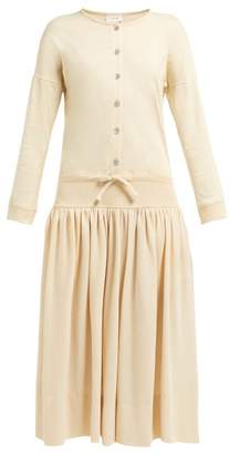 Lemaire Cotton-jersey Dress - Womens - Beige
