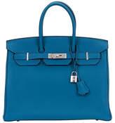 One Kings Lane Vintage Hermès Birkin 35 Cobalt Bag
