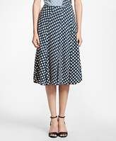 Brooks Brothers Flared Ikat-Print Skirt