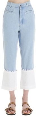 Loewe Flared Cropped Jeans