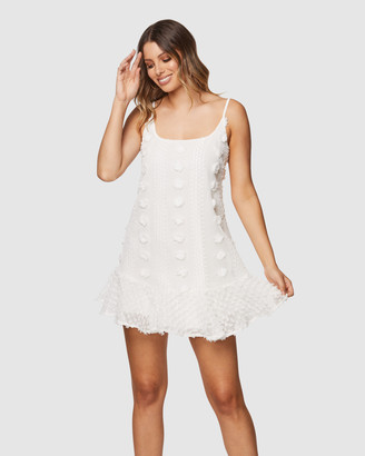 Pilgrim Women's White Mini Dresses - Ganesa Mini Dress - Size One Size, 8 at The Iconic