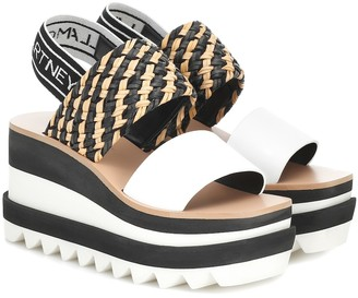 Stella McCartney Woven platform sandals