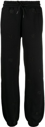 Alexander Wang Logo Embroidered Cotton Track Trousers