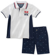 Tommy Hilfiger Two-Piece Colourblock Polo and Printed Shorts Set