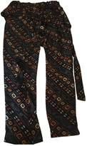 Isabel Marant Black Silk Trousers