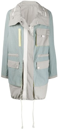 Yves Salomon Colour Block Utility Rain Coat